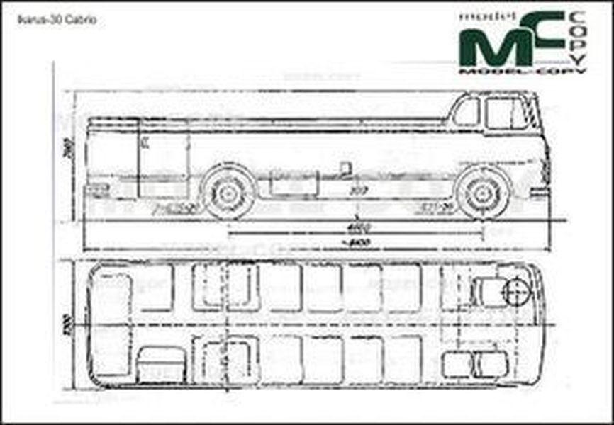 Ikarus-30 Cabrio - 2D drawing (blueprints)