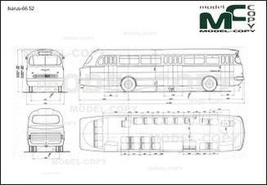 Ikarus-66.52 - 2D drawing (blueprints)