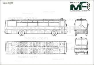 Ikarus-250.40 - 2D drawing (blueprints)