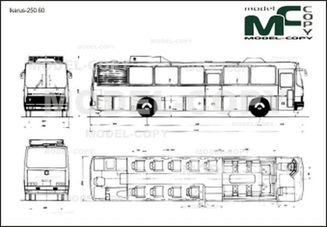 Ikarus-250.60 - 2D drawing (blueprints)