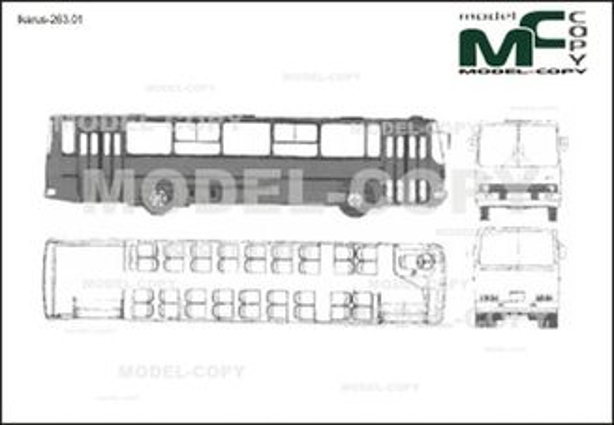 Ikarus-263.01 - 2D drawing (blueprints)