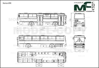 Ikarus-268 - 2D drawing (blueprints)
