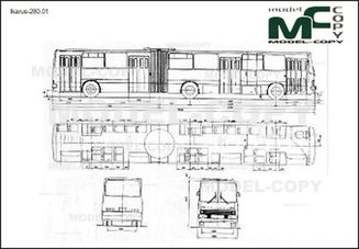 Ikarus-280.01 - 2D drawing (blueprints)