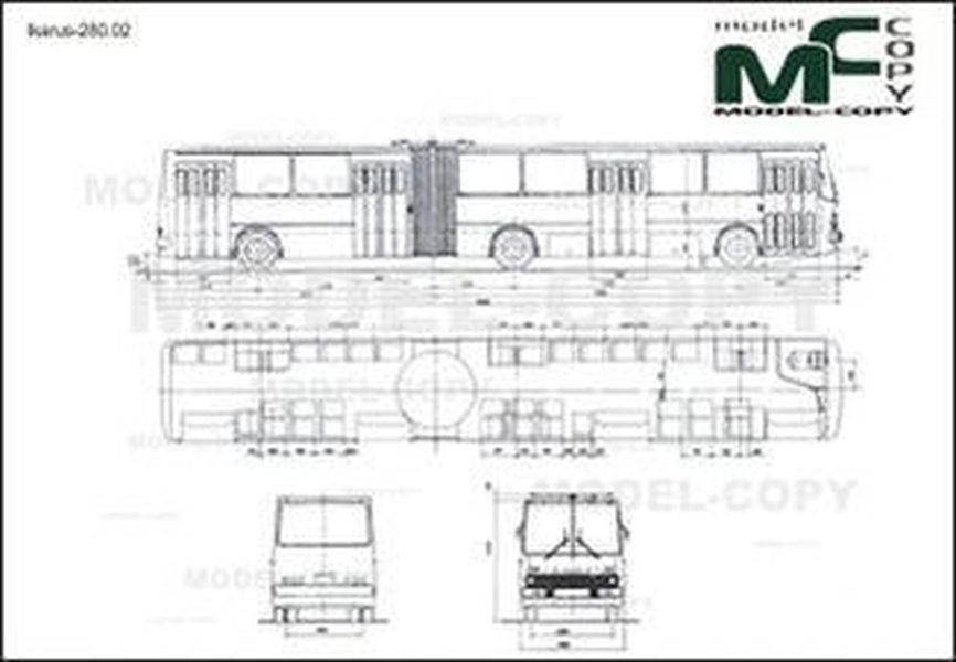 Ikarus-280.02 - 2D drawing (blueprints)