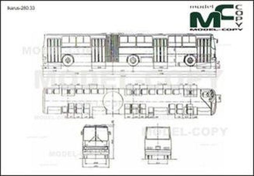 Ikarus-280.33 - drawing