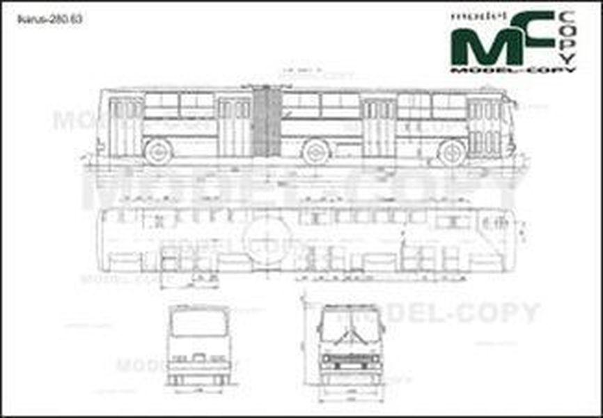 Ikarus-280.63 - 2D drawing (blueprints)