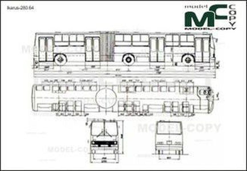 Ikarus-280.64 - 2D drawing (blueprints)