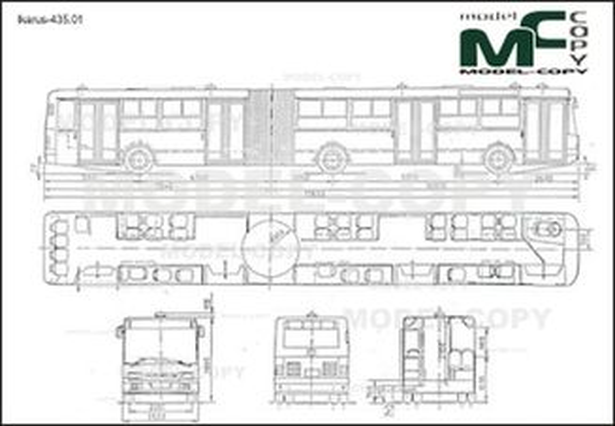 Ikarus-435.01 - 2D drawing (blueprints)