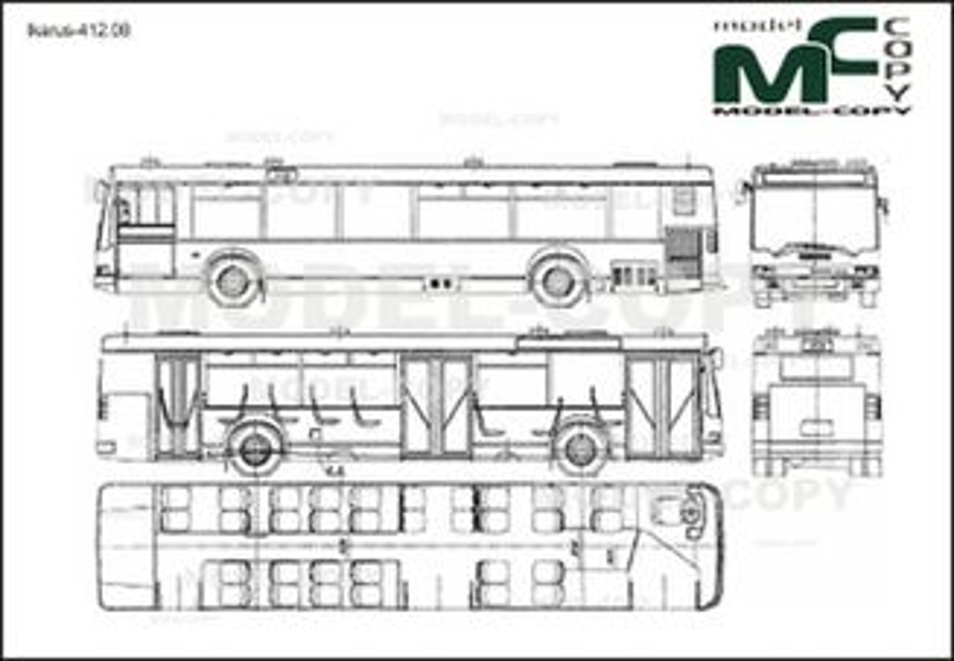 Ikarus-412.08 - 2D drawing (blueprints)
