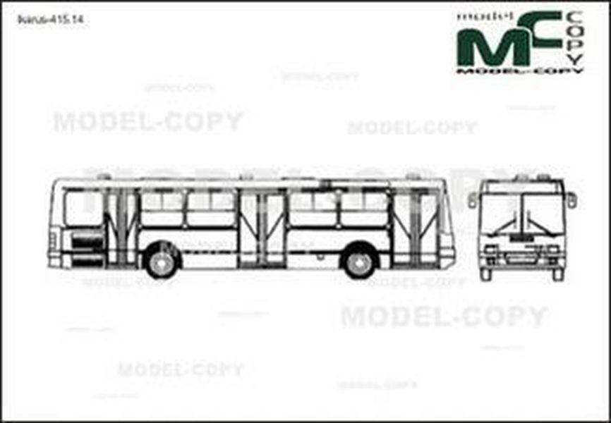 Ikarus-415.14 - 2D drawing (blueprints)