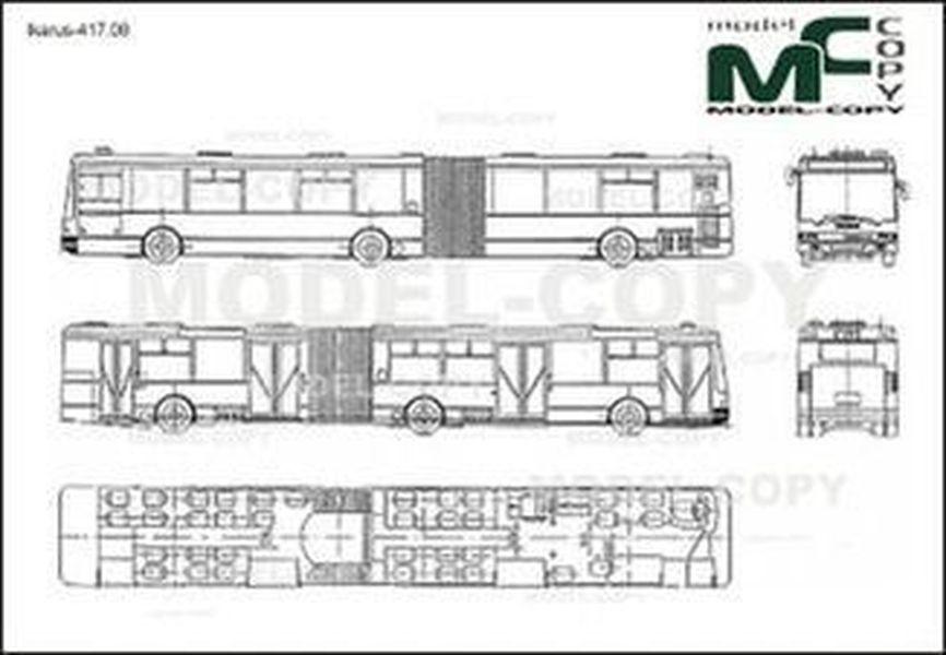 Ikarus-417.08 - 2D drawing (blueprints)