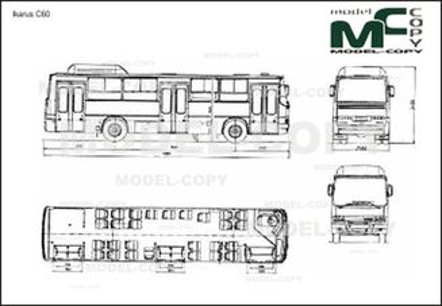 Ikarus C60 - 2D drawing (blueprints)