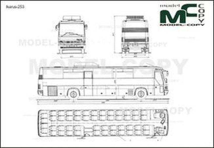 Ikarus-253 - 2D drawing (blueprints)