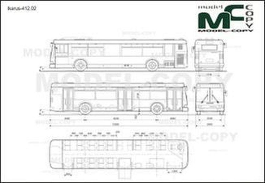 Ikarus-412.02 - 2D drawing (blueprints)