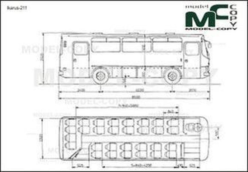 Ikarus-211 - 2D drawing (blueprints)