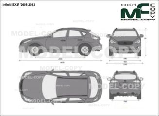 Infiniti EX37 '2008-2013 - 2D drawing (blueprints)