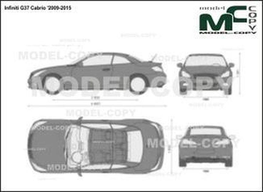 Infiniti G37 Cabrio '2009-2015 - 2D drawing (blueprints)