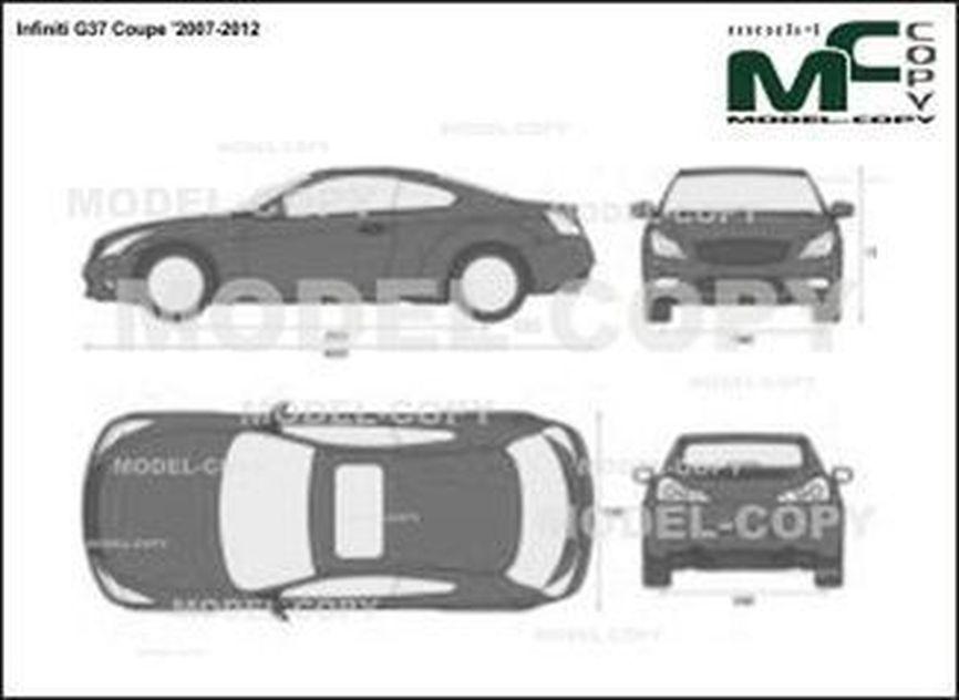 Infiniti G37 Coupe '2007-2012 - 2D drawing (blueprints)