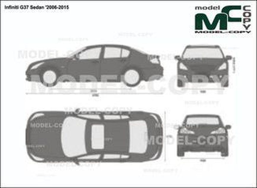 Infiniti G37 Sedan '2006-2015 - 2D drawing (blueprints)