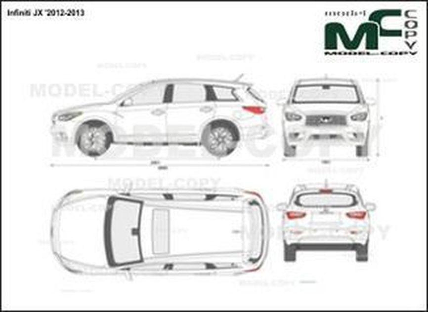 Infiniti JX '2012-2013 - 2D drawing (blueprints)