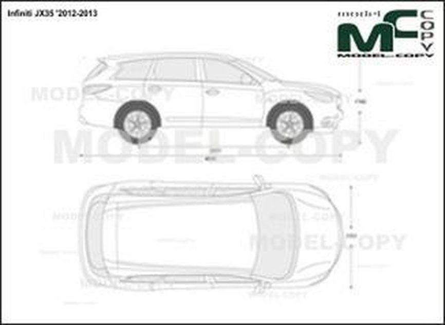 Infiniti JX35 '2012-2013 - 2D-чертеж