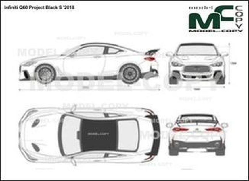 Infiniti Q60 Project Black S '2018 - 2D drawing (blueprints)