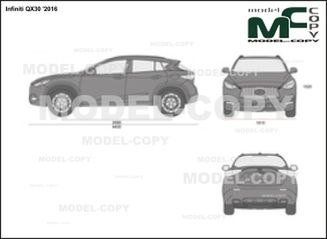 Infiniti QX30 '2016 - 2D drawing (blueprints)