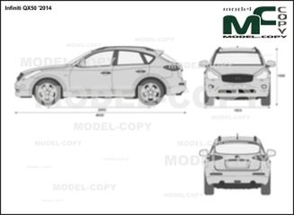 Infiniti QX50 '2014 - 2D drawing (blueprints)