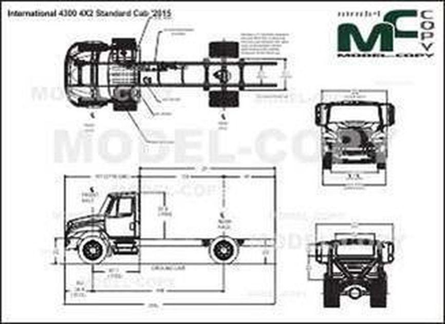 International DuraStar 4300 4X2 Standard Cab '2015 - drawing
