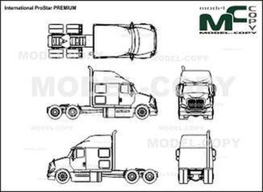 International ProStar PREMIUM - drawing
