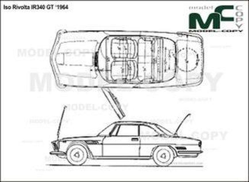 Iso Rivolta IR340 GT '1964 - drawing