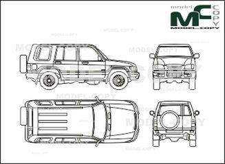 Isuzu Trooper 5 doors (2000) - drawing