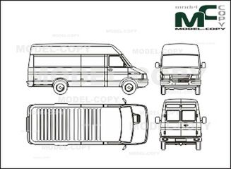 Iveco Daily 30 8 C Box High Roof Short Drawing 26661 Model