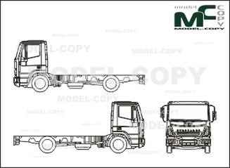 Iveco Eurocargo ML 120 E 21, chassis, Normal Driver's cab (2005) - drawing