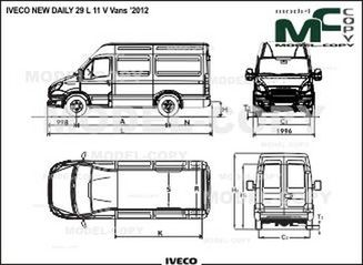 IVECO NEW DAILY 29 L 11 V Vans '2012 - drawing