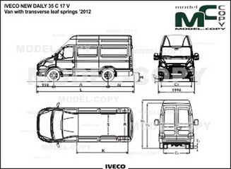 IVECO NEW DAILY 35 C 17 V Van with transverse leaf springs '2012 - 2D drawing (blueprints)