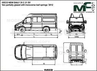 IVECO NEW DAILY 35 C 21 SV Van partially glazed with transverse leaf springs '2012 - drawing