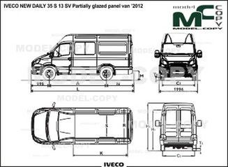 IVECO NEW DAILY 35 S 13 SV Partially glazed panel van '2012 - drawing