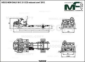 IVECO NEW DAILY 60 C 21 CCS reduced cowl '2012 - 2D drawing (blueprints)