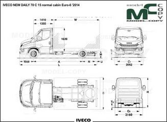 IVECO NEW DAILY 70 C 15 normal cabin Euro-6 '2014 - 2D drawing (blueprints)