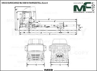 IVECO EUROCARGO ML100E18 FAHRGESTELL Euro-5 - drawing