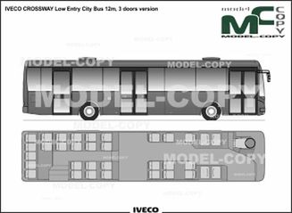Iveco Crossway Low Entry City Bus 12m 3 Doors Version Drawing