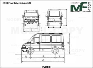 IVECO Power Daily minibus A36.13 - 2D drawing (blueprints)
