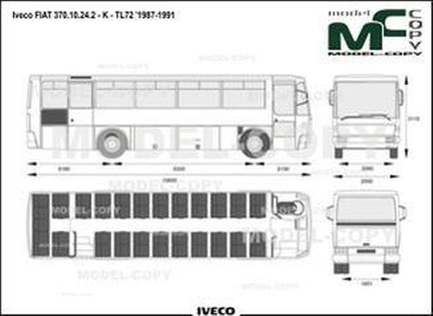 Iveco FIAT 370.10.24.2 - K - TL72 '1987-1991 - drawing