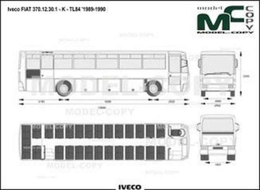 Iveco FIAT 370.12.30.1 - K - TL84 '1989-1990 - drawing