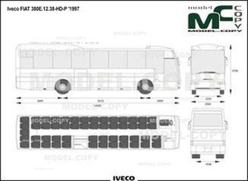 Iveco FIAT 380E.12.38-HD-P '1997 - drawing