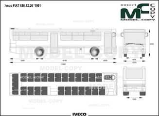 Iveco FIAT 680.12.26 '1991 - drawing