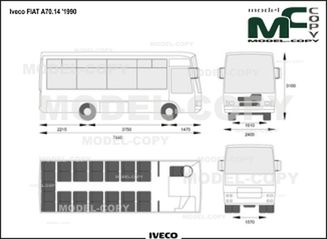 Iveco FIAT A70.14 '1990 - drawing
