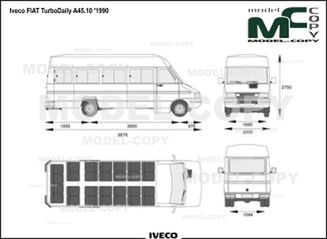 Iveco FIAT TurboDaily A45.10 '1990 - drawing