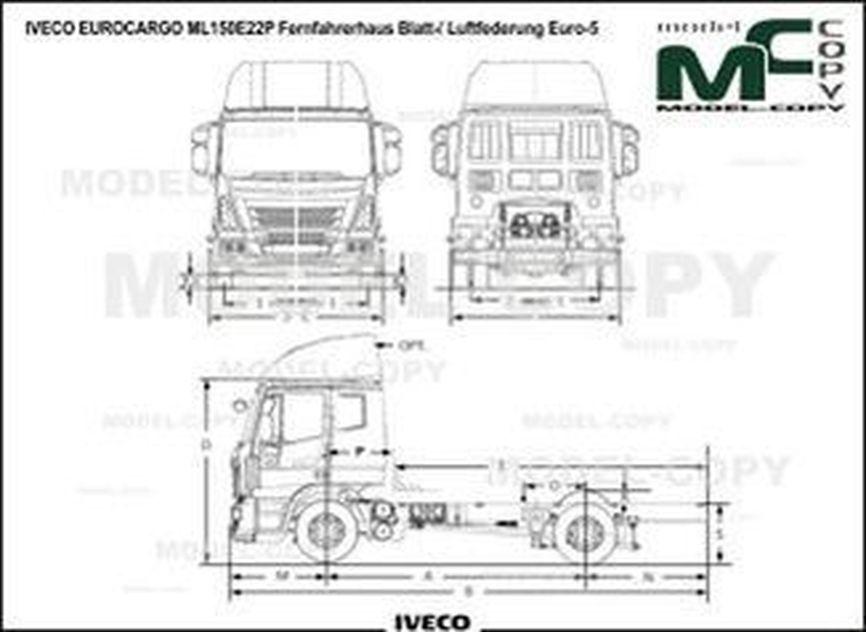 IVECO EUROCARGO ML150E22P Fernfahrerhaus Blatt-/ Luftfederung Euro-5 - drawing